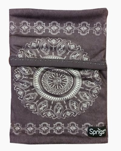 batik black wrist wallet, wrist wallet, phone holder, arm pocket, travel pocket, pick pocket proof wallet