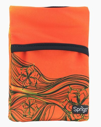 surf orange wrist wallet, wrist wallet, phone holder, arm pocket,