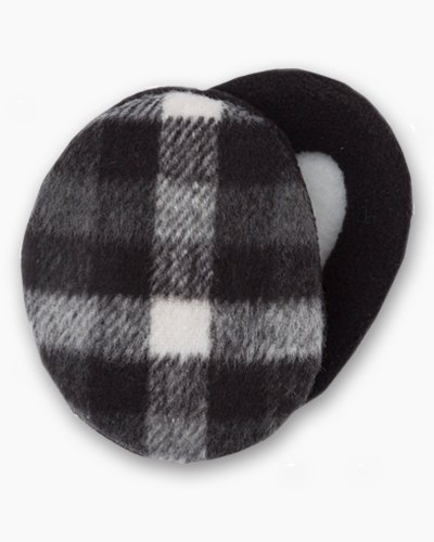 Earbags Black and White Plaid