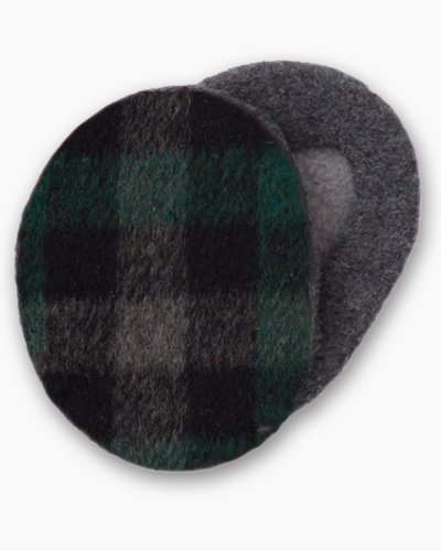 Green and Black Plaid Earbags