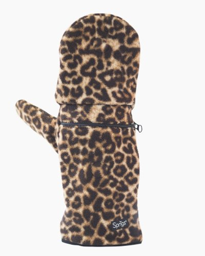 Leopard Multi Mitt Fingerless Gloves Outside