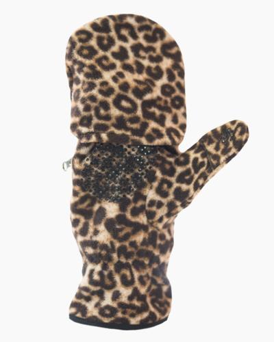 Leopard Multi Mitt Fingerless Gloves Inside 2