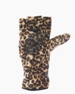 Leopard Multi Mitt Fingerless Gloves Inside