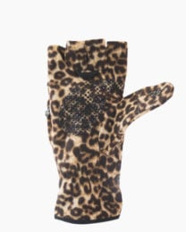 Leopard Multi Mitt Fingerless Gloves Inside