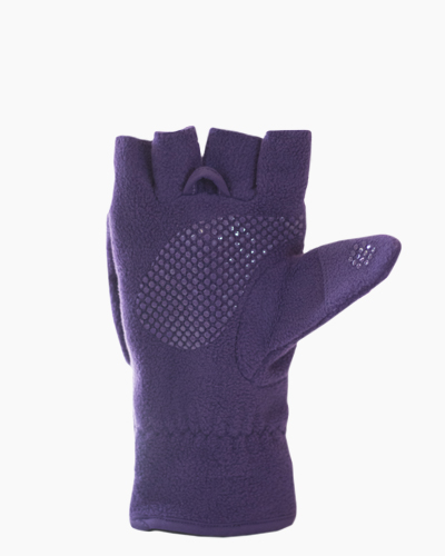 Purple Multi Mitt Fingerless Gloves Inside 1