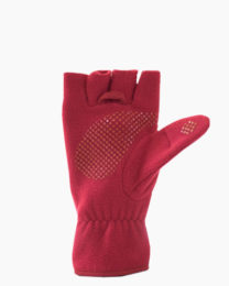 Red Multi Mitt Fingerless Gloves Inside