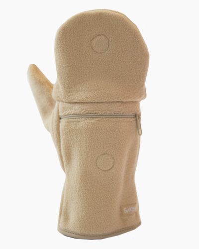 Tan Multi Mitt Fingerless Gloves Outside