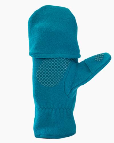 Teal Multi Mitt Fingerless Gloves Inside 2