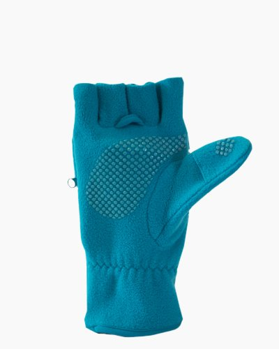 Teal Multi Mitt Fingerless Gloves Inside