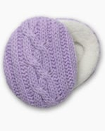 Purple Cable Knit Earbags Ear Muffs