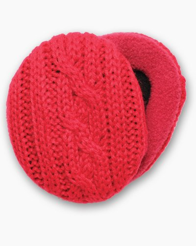 Red Cable Knit Earbags