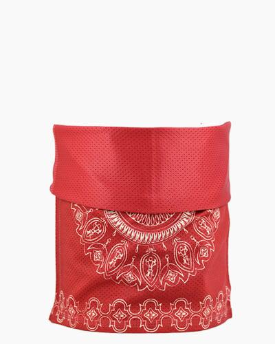 Slink Bandana Headband Red Batik Both