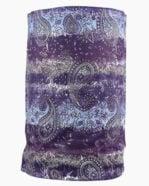 Slink Bandana Headband Purple Paisley Front